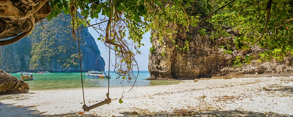 Maya beach at Ko Phi Phi Le, Thailand