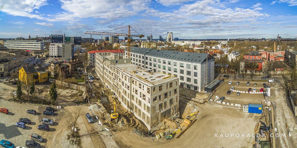 Norra maja ehitus Baltika kvartalis, kevad 2015
