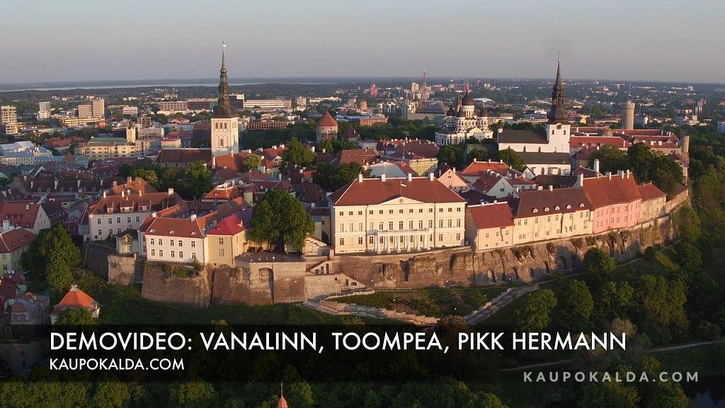 AEROVIDEO: Vanalinn, Toompea, Pikk Hermann, Stenbocki maja loojangus (ca 6 min, 25fps, 4K)