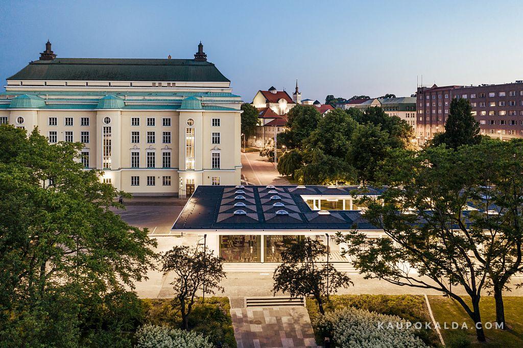 Estonia ja Tammsaare pargi paviljon